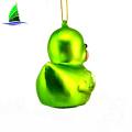 Glass animal figurines duck Christmas decoration ornaments