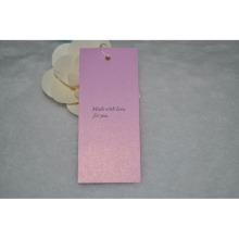 Ropa de mujer Etiqueta de swing para papel blanco Hangtag