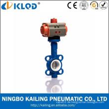 Ningbo Aktuator Manufaktur EPDM PTFE Abdichtung Pneumatische Absperrklappe