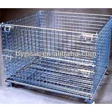 Maschendraht-Behälter mit Caster / Rädern