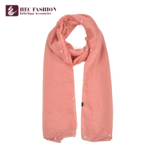 HEC Popular Cheap Promotional All Season Plain Polyester Scarf