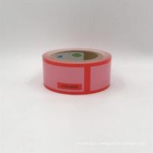 Garantía de sellado evidente rojo Tamper Cinta de sello de seguridad VOID ABIERTO transferencia de cinta