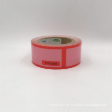 Red Tamper Evident sealing warranty VOID OPEN tape transfer security seal tape