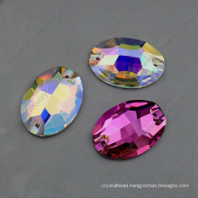 Oval Shape Ab Loose Crystal Stones for Clothing Sewing