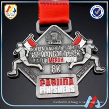 Corrida para os jogos asiáticos 2018 finisher medalha verde / run medalha fita