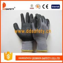 Gants de sécurité en nitriles en nitriles en nylon gris ND143