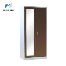 China Supplier Yellow 2 Door Metal Wardrobe / Steel Clothes Cabinet