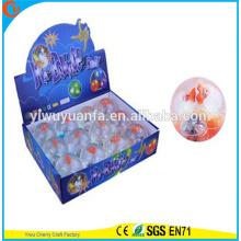 Высокое качество детские игрушки резиновая 65мм 65мм рыба-клоун мигающий свет вверх надувной мяч