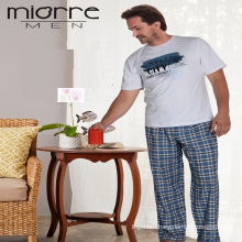 Miorre Men's Sleepwear Cotton Short Sleeve Pajamas Set