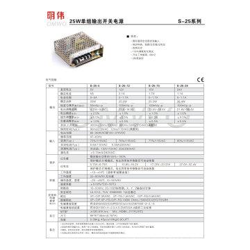 Entrada 220V AC / DC Fuente de alimentación conmutada