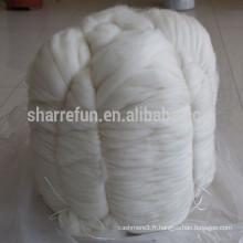 100% peigné Cachemire Tops Blanc usine Prix