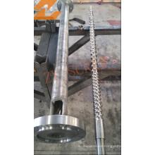 HDPE / LDPE Film Blowing Machinery Screw y barril