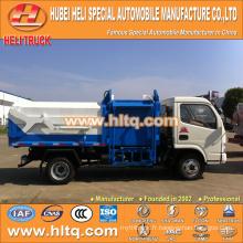 Vente chaude à bas prix 5m3 NOUVEAU dongfeng 4x2 bin lifter chariot à ordures diesel