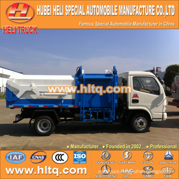 Hot sale low price 5m3 NEW dongfeng 4x2 bin lifter garbage truck diesel engine