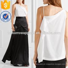 Fabricação de camisola de um ombro assimétrica atacado moda feminina vestuário (t4145b)