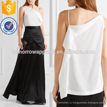 Асимметричная одно плечо камзол Производство Оптовая продажа женской одежды (TA4145B)