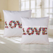Digital Printing Letters Home Office Cushion Backrest Pillow