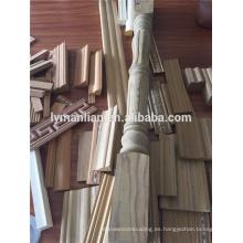 molduras de madera recon para la decoración, construcción, línea de techo, moldura de madera plana