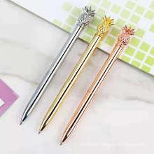 Wholesale Fancy Fruit Cute Fruit Pen Twist Colorful Beauty Custom Logo Pineapple Ballpoint Pen With Pineapple On The Top
