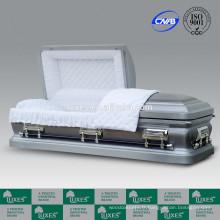 LUXES 18ga cercueil métallique en acier de Style américain cercueil