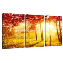 Осенний лес Картина для декорации стен / Декорации для заката Фото Печать на холсте / Home Decor Настенная живопись