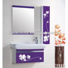 2013 color púrpura con la impresión de la flor Gabinete de baño barato