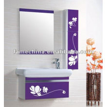 2013 Cor roxa com impressão de flores Gabinete de banheiro barato