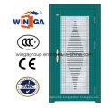 Decorative Designs Security Metal Steel Glass Door (W-GD-07)