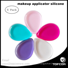 5 Pcs Silicone Makeup Sponge Foundation Powder Puffs Beauty Sponge Blender Make Up Sponge Set Makeup Applicator for Powder