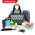 Expandable Diaper Bag Backpack Tote Messenger Bag for Mom and Girl in Grey-HCDP0064