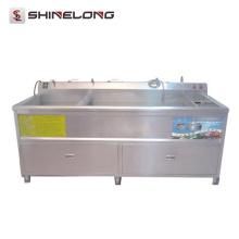 Küchen-Ausrüstungs-Ultraschallhandelsgemüsewaschmaschine und Trockner