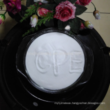 good quality of virgin Chemical rew material Chlorinated Polyethylene white powder pipe CPE