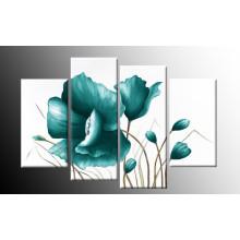Decoración para el Hogar Arte Moderno de Pared Flor Floral Azul Decoración Pintura al óleo