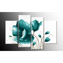 Home Decor Modern Wall Art Blue Floral Decor Flower Oil Painting