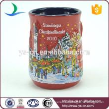 YScc0006-01 Ángel y modelo de muñeco de nieve tazas de cerámica baratos para la Navidad