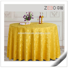 Nouveau Jacquard Design Table Linens Wedding Round Cheap Used Table Cloth