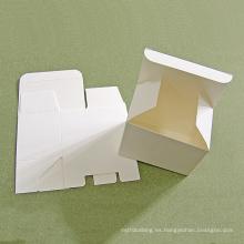 Caja de cartón de papel de cartulina blanca