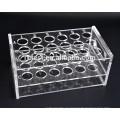Soporte de tubo de ensayo de acrílico para laboratorio