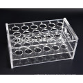 Laboratory acrylic test tube holder rack