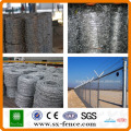 ISO,SGS,BV Galvanized barbed wire fence