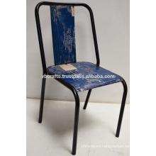 Industrial reclaimed metal chair