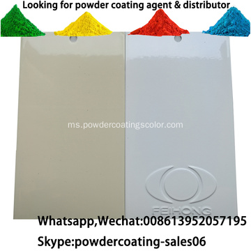 White Color RAL9016 Powder Coating untuk Aluminium