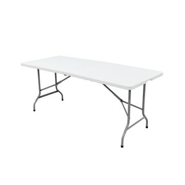 6FT Lightweight 1.8M Metal Plastic Dining Table