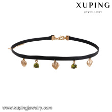 43630 china factory direct wholesale jewelry necklace 18k copper alloy multicolor diamond choker necklace