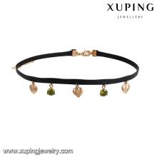 43630 china fábrica direto colar de jóias por atacado 18 k liga de cobre multicolor diamante gargantilha colar
