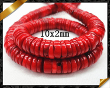 Heishi Coral Beads, Fashion Strand Beads Coral Jewelry (GB058)