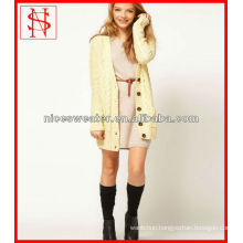 long women cable fisherman white cardigan sweater