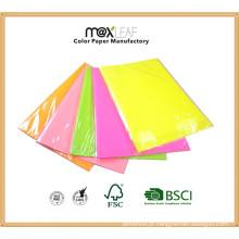 Colorido papel de mudança de cor de água fluorescente para decoração de casa