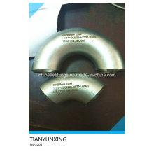 Lr Saf2205 Duplex 180degree Codo de acero inoxidable