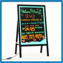 Best selling aluminium alloy remote control tempered glass lighted menu display signs flashing neon for restaurant